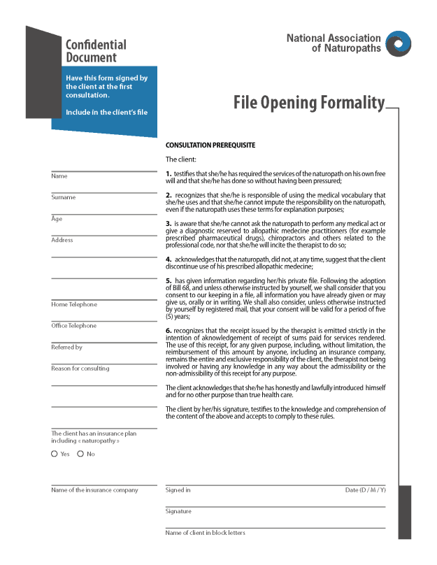 File Opening Formality