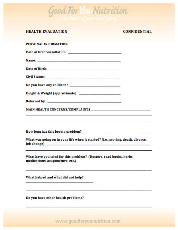 Health Evaluation
